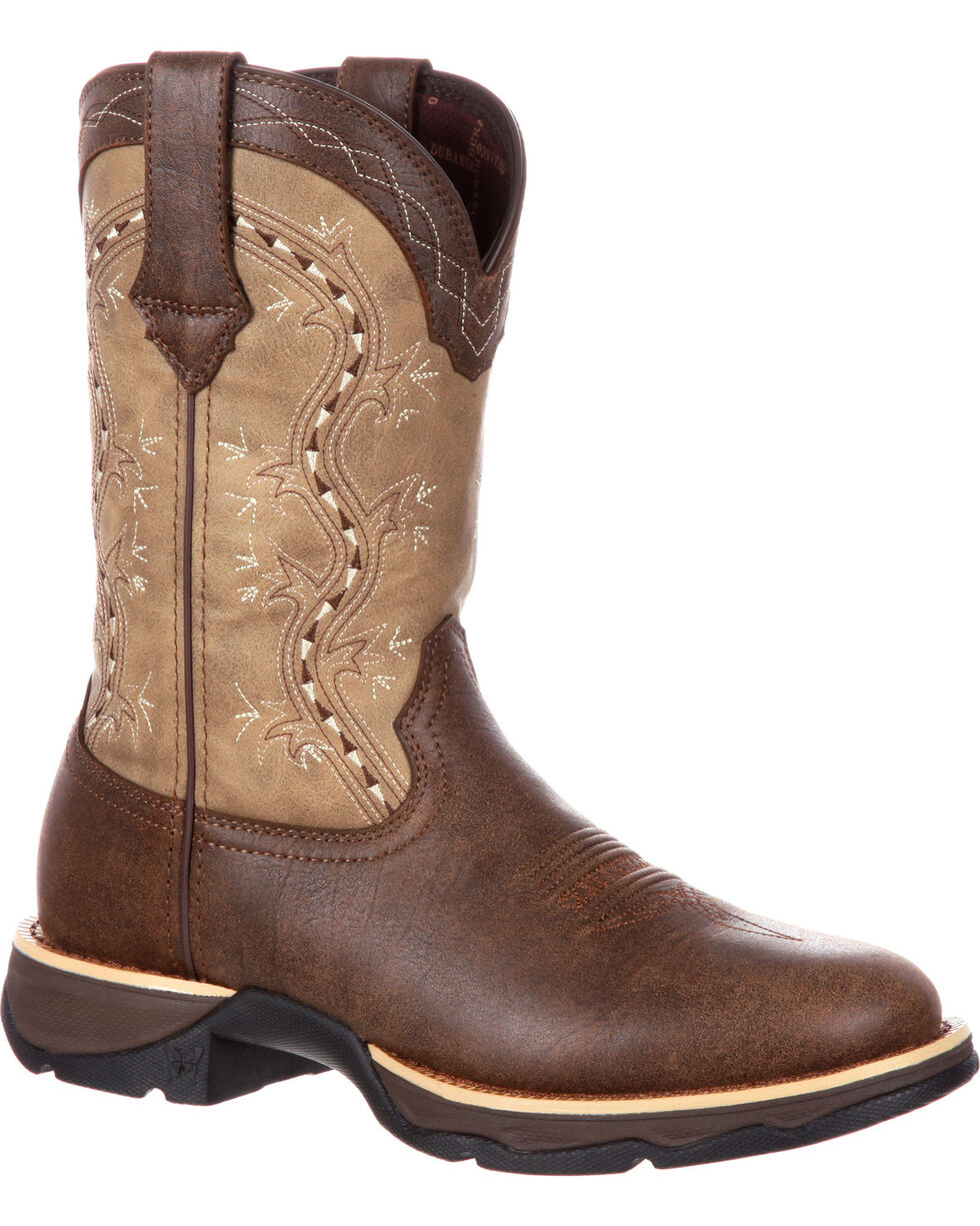Lady Rebel by Durango Women's Slip Resistant Lightweight Western Work Boots, Brown, hi-res
