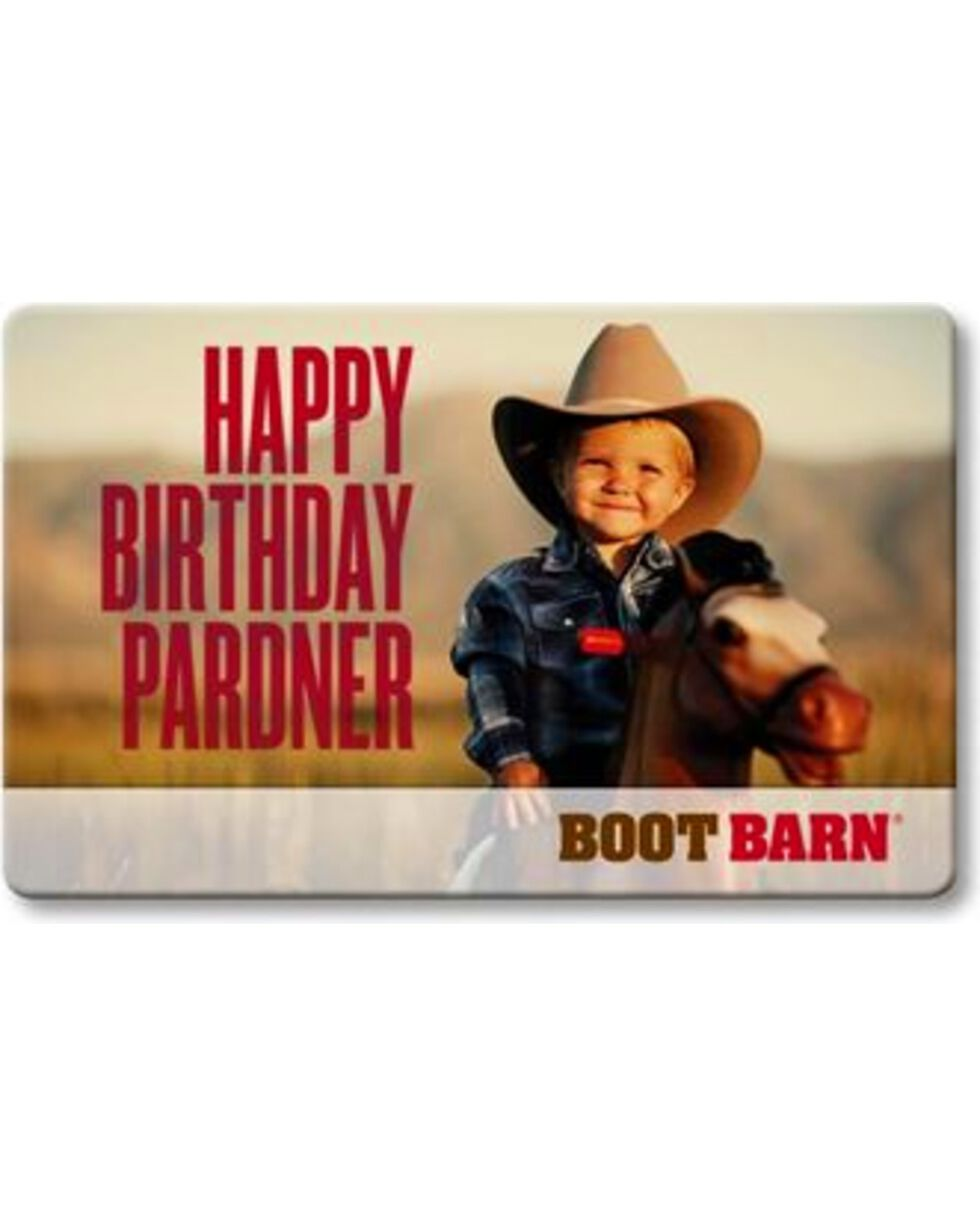 Boot Barn Happy Birthday Pardner eGift Card, No Color, hi-res