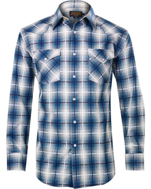 Pendleton Men's Wire Plaid Long Sleeve Shirt, Grey, hi-res