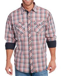 Cowboy Up Men's Plaid Long Sleeve Western Shirt, , hi-res