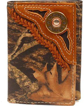 Nocona Men's Camo 12 Gauge Tri-Fold Pass Case, Camouflage, hi-res