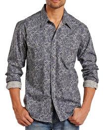 Rock & Roll Cowboy Men's Paisley Long Sleeve Shirt, , hi-res