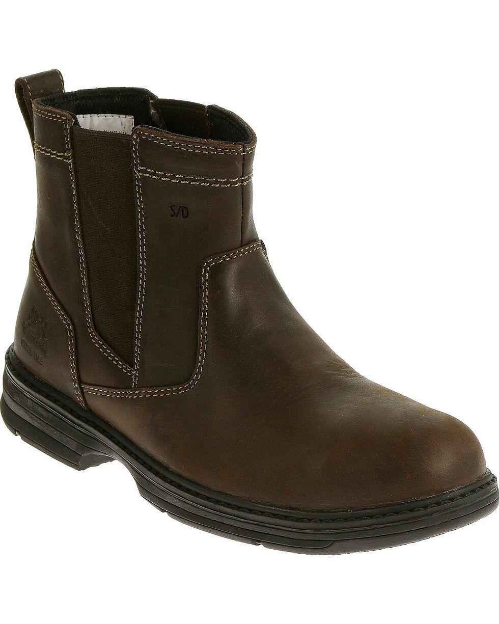 Caterpillar Men's Brown Inherit Pull On Work Boots - Steel Toe , Brown, hi-res