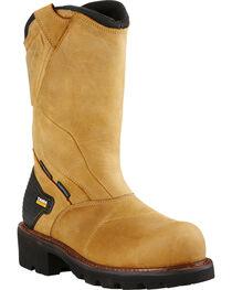 Ariat Men's Powerline Waterproof Comp Toe Work Boots, , hi-res