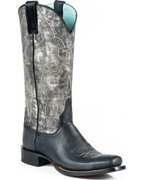 Stetson Women's Rachel Marbled Grey Western Boots - Square Toe, , hi-res