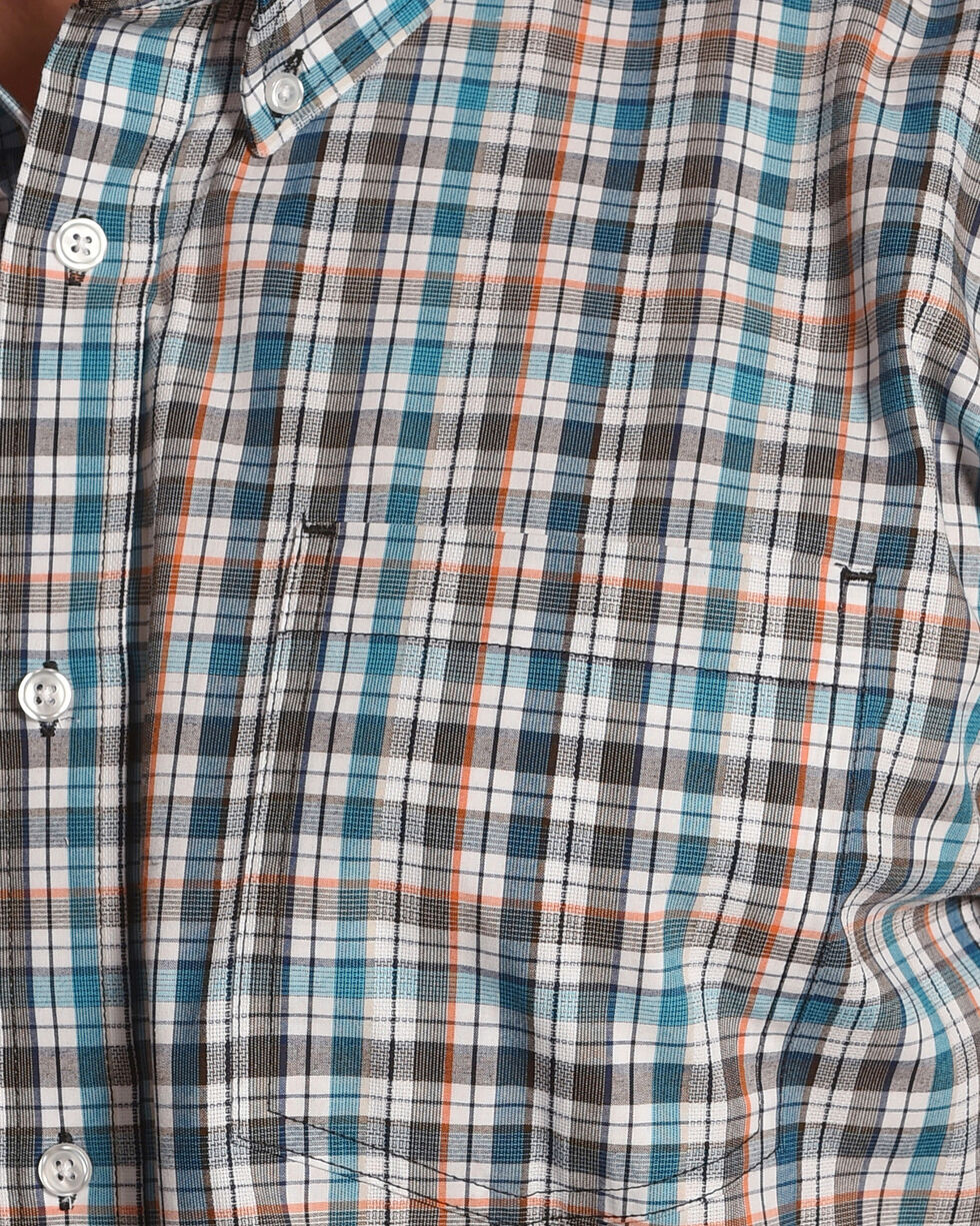 Cody James Men's Frisco Plaid Short Sleeve Shirt, Blue, hi-res