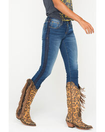 Miss Me Women's On Streak Tuxedo Stripe Ankle Jeans - Skinny, , hi-res