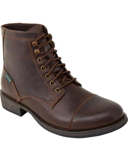 Eastland Men's Dark Brown High Fidelity Cap Toe Boots , Dark Brown, hi-res