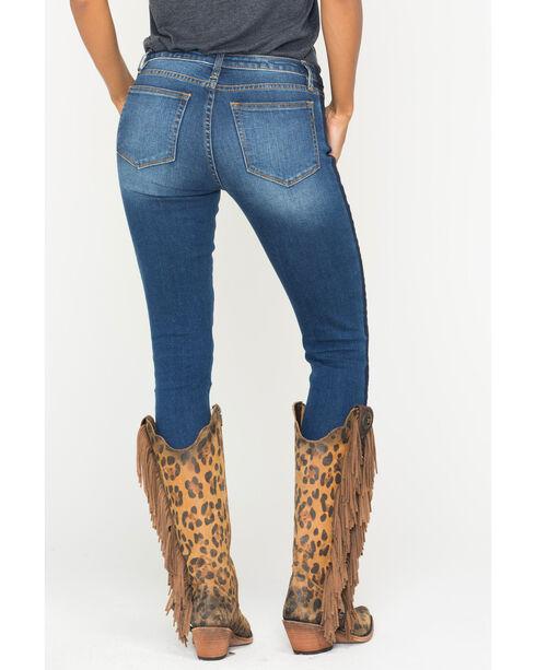 Miss Me Women's On Streak Tuxedo Stripe Ankle Jeans - Skinny, Indigo, hi-res
