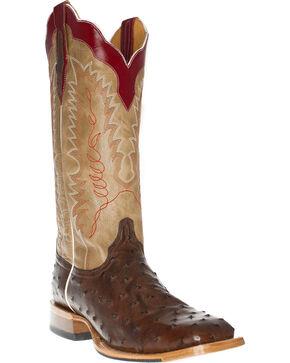 Cinch Men's Ostrich Kango Exotic Boots, Tobacco, hi-res