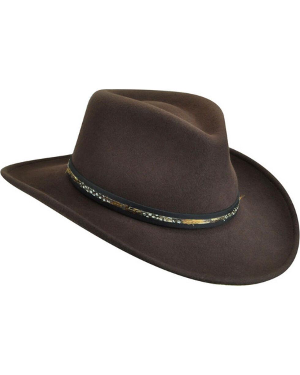 Bailey Men's Recoil Wool Felt Outback Hat, Brown, hi-res