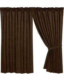 HiEnd Accents Caldwell Faux Tooled Leather Curtain, , hi-res