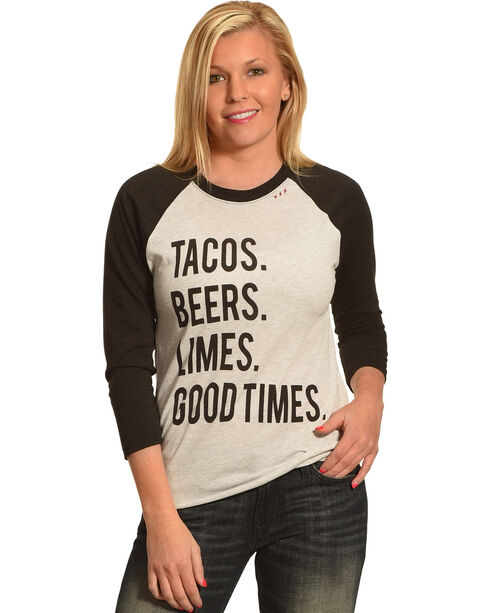 Bohemian Cowgirl Women's Good Times Long Sleeve Tee, Black, hi-res