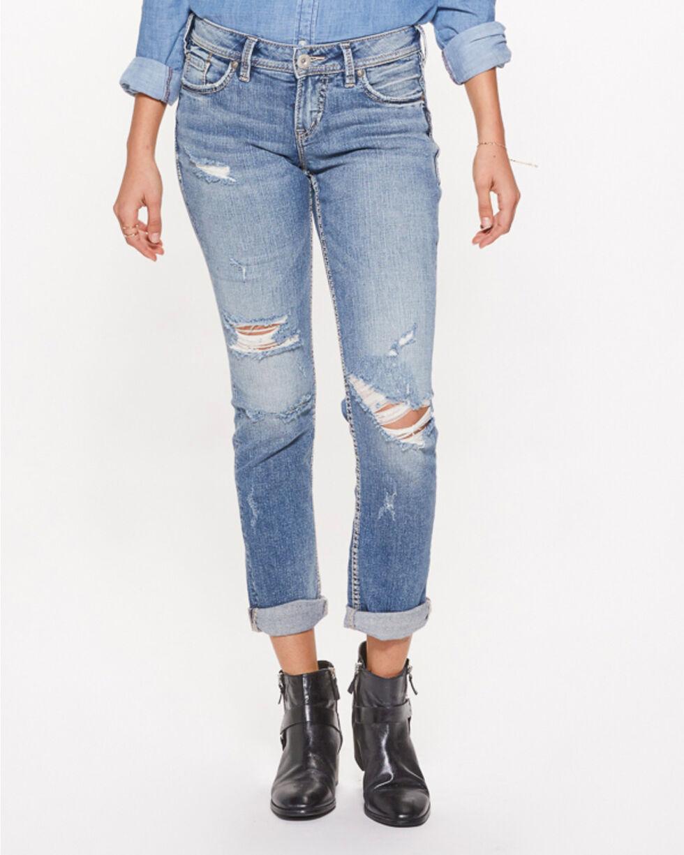 Silver Women's Suki Ankle Slim Skinny Jeans , Indigo, hi-res