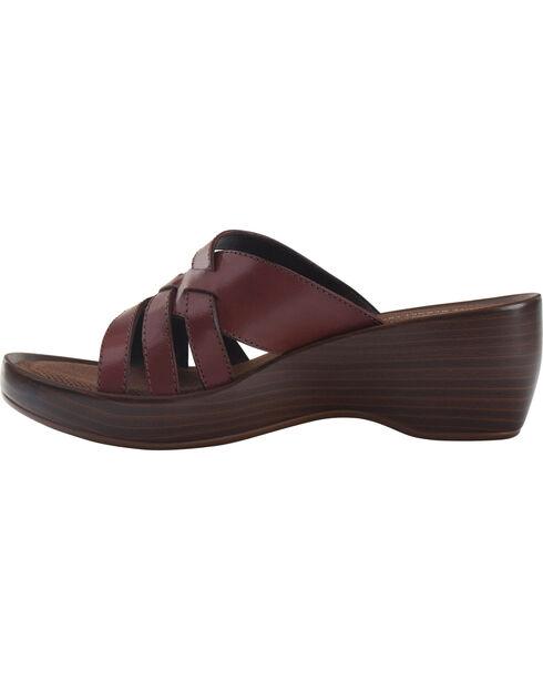 Eastland Women's Cinnamon Poppy Wedge Sandals , Chili, hi-res