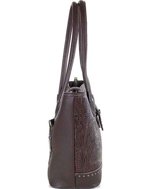 Trinity Ranch Women's Tooled Western Design Concealed Handgun Collection Handbag, Taupe, hi-res