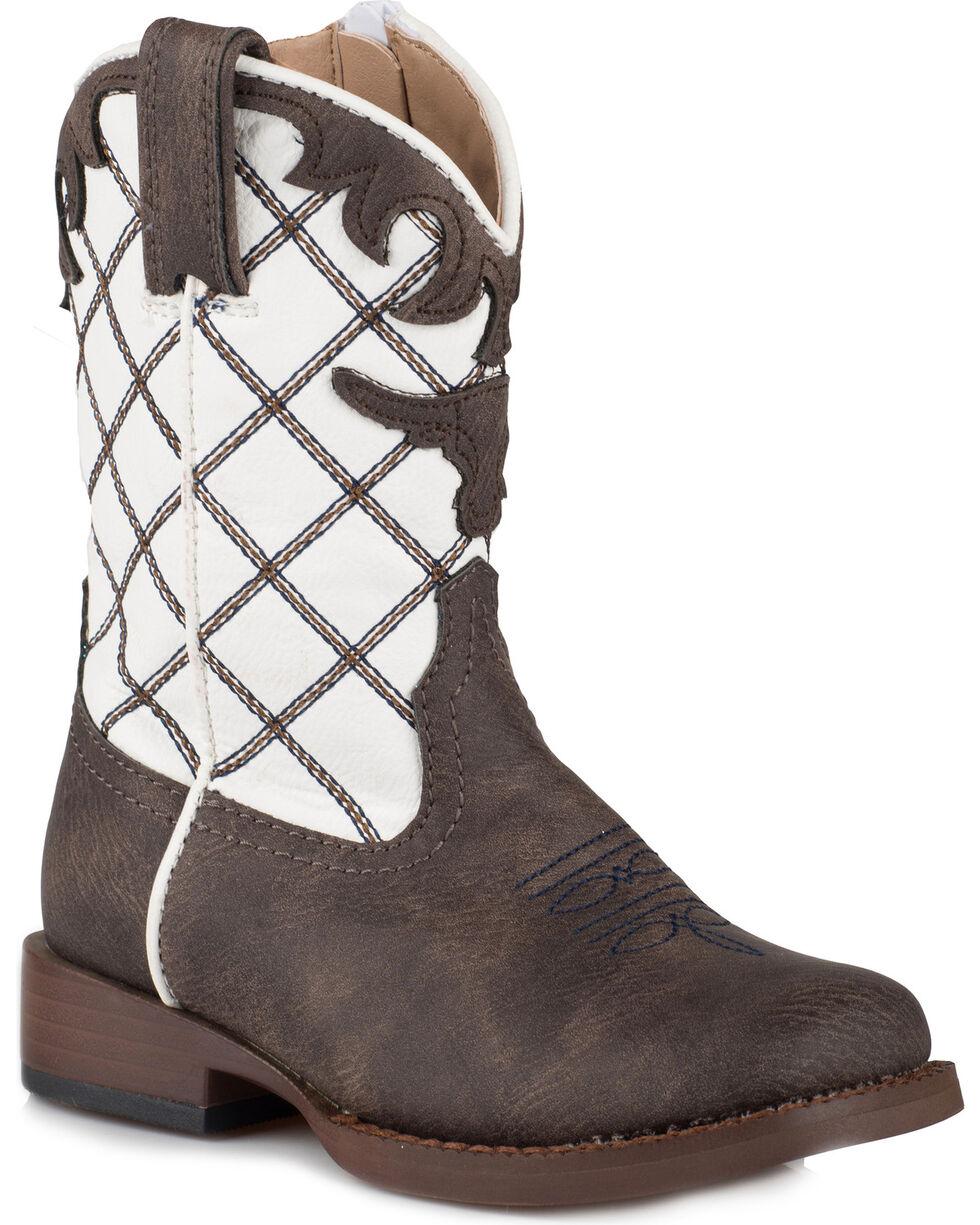 Roper Toddler Boys' Steerhead Cowboy Boots - Square Toe, Brown, hi-res