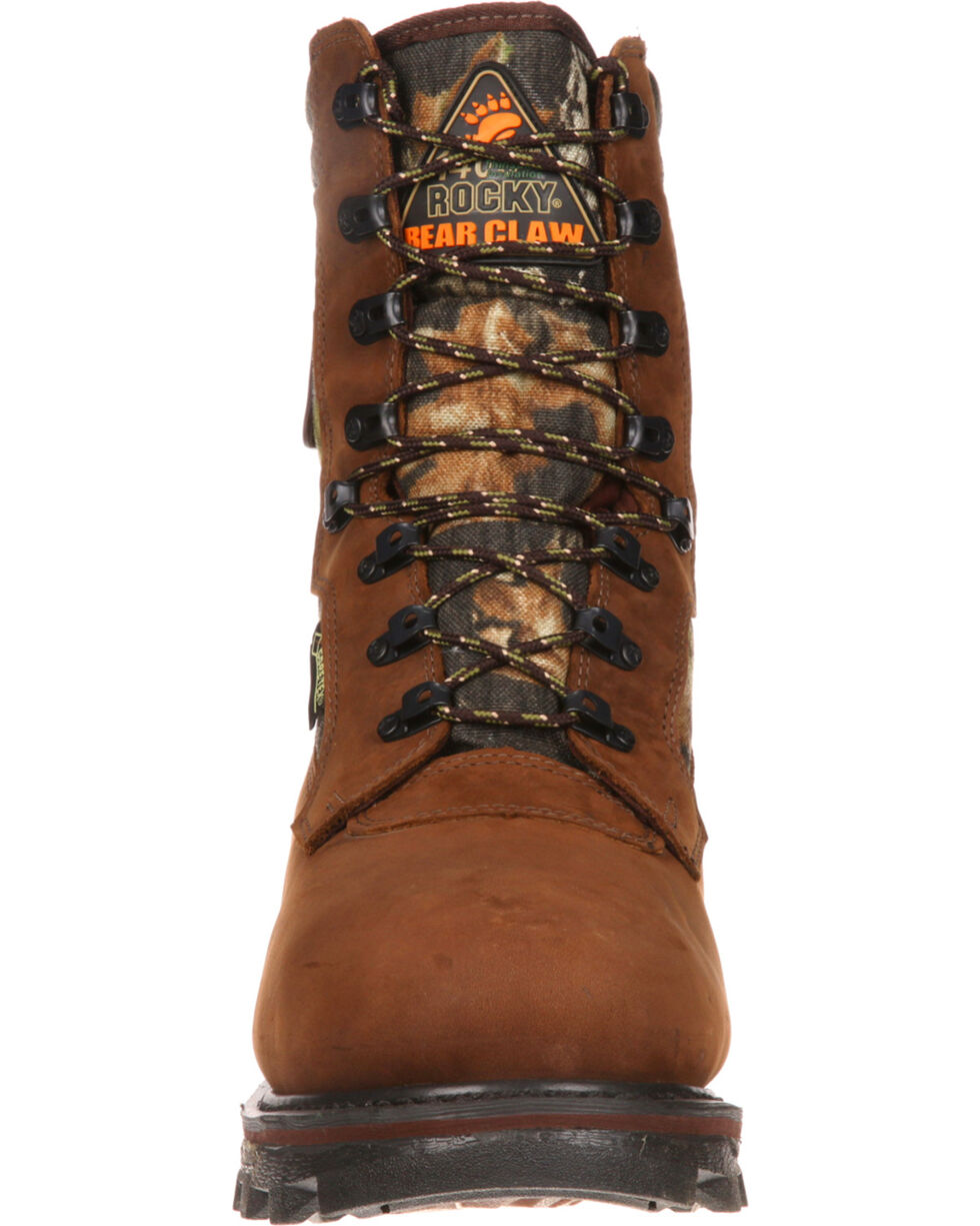 """Rocky Men's Arctic Bear Claw 3D 10"""" Hiking & Hunting Boots, Brown, hi-res"""