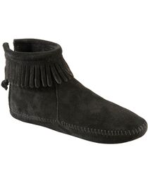 Minnetonka Soft Sole Back-Zip Moccasins, , hi-res