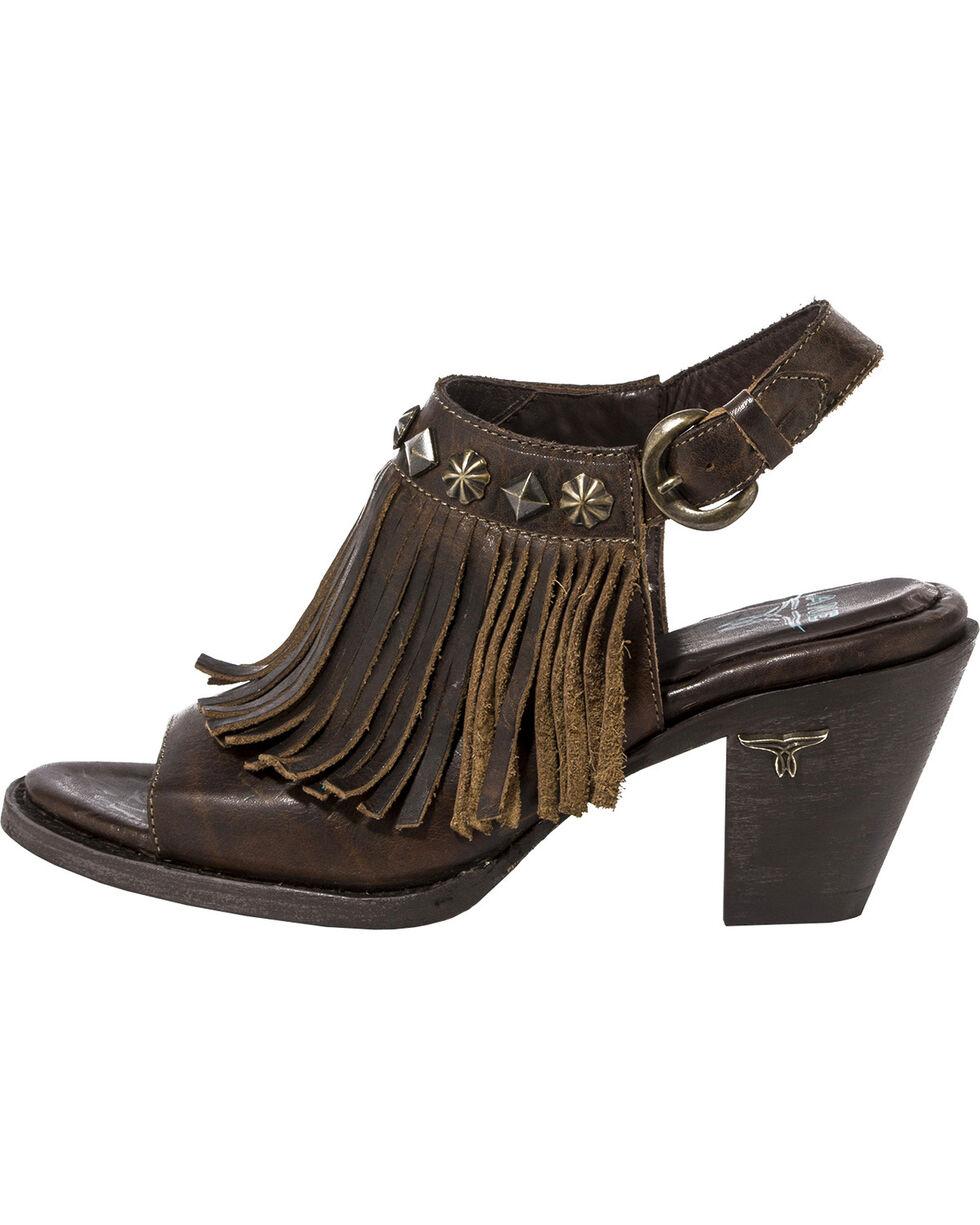 Lane Women's Cody Backstrap Fringe Sandals, Brown, hi-res