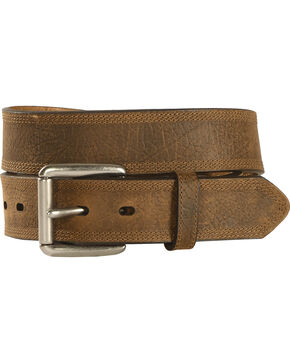 Ariat Aged Bark Basic Leather Belt, Aged Bark, hi-res
