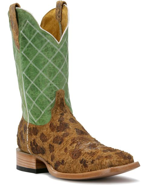 Cinch Edge Women's Rough Out Invasion Square Toe Western Boots, Tan, hi-res