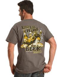 Cowboy Up Men's Charcoal Raise Your Hand T-Shirt , , hi-res