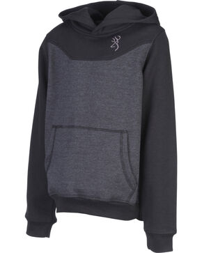 Browning Boys' Cohos Hooded Sweatshirt, Black, hi-res