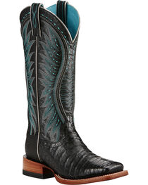 Ariat Women's Vaquera Caiman Belly Exotic Boots, , hi-res