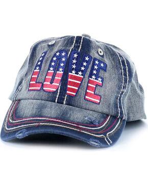 Shyanne® Women's Love Baseball Cap, Navy, hi-res