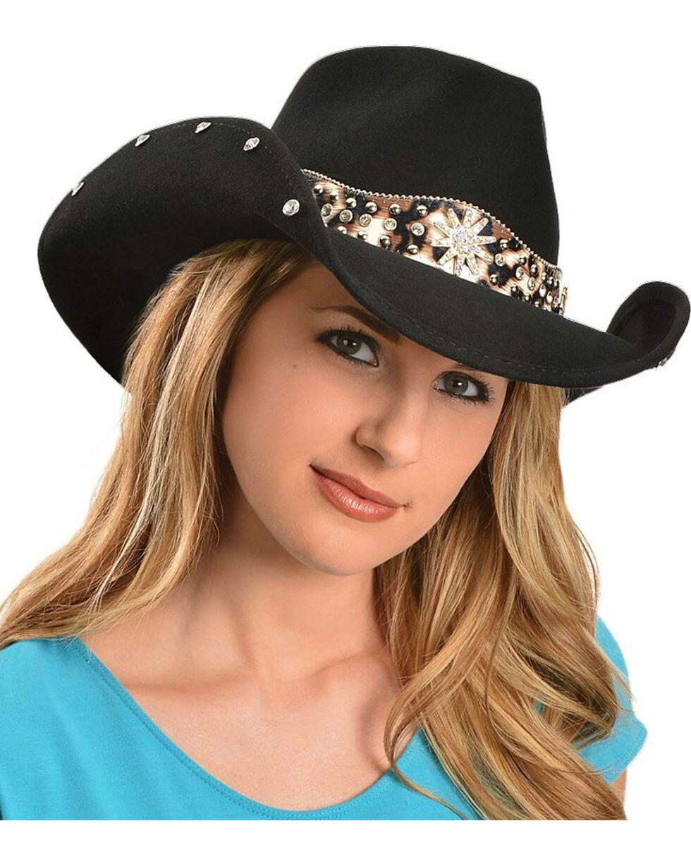 Bullhide Women's Euphoria Wool Hat, Black, hi-res