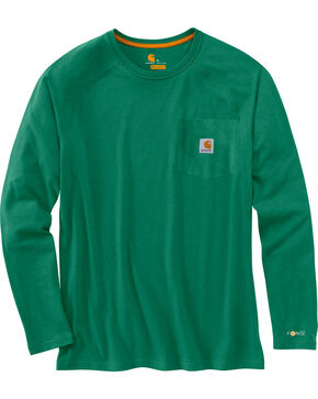 Carhartt Men's Long Sleeve Force T-Shirt, Green, hi-res