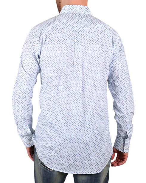 Ariat Men's Pattern Long Sleeve Shirt , White, hi-res