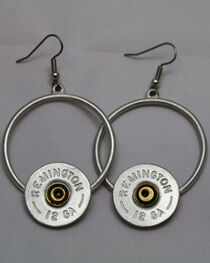SouthLife Supply Florance Shotshell Circle Dangle Earring in Antique Silver, , hi-res