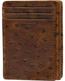 Nocona Ostrich Print Card Case Wallet, , hi-res
