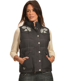 Cowgirl Hardware Women's Floral Embroidered Vest, , hi-res