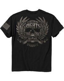 Buck Wear Men's Black Defend My Rights Tee , , hi-res