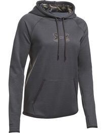 Under Armour Women's Charcoal Grey Caliber Hoodie, , hi-res