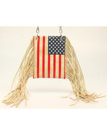 Blazin Roxx Women's American Flag Fringe Crossbody Bag, , hi-res