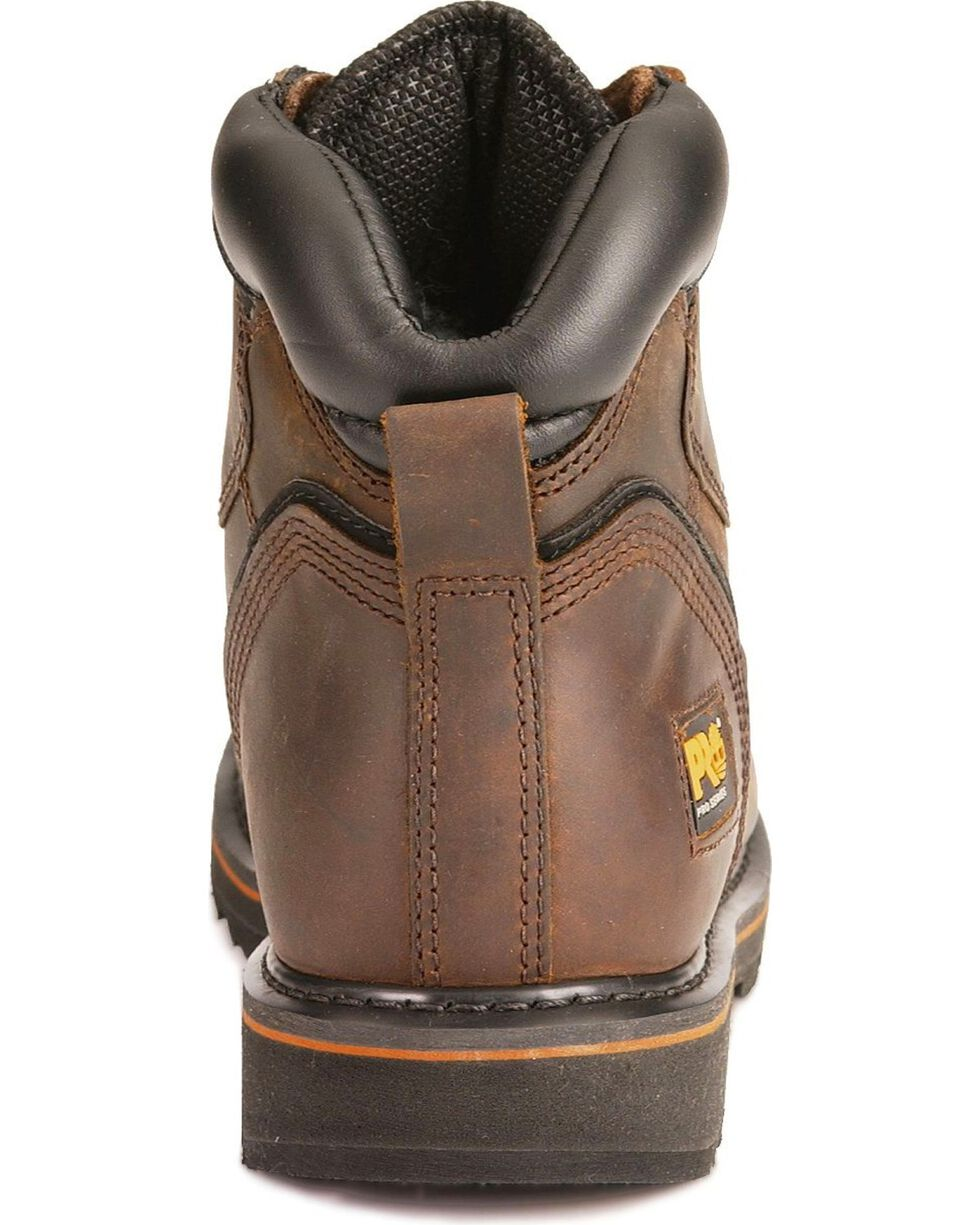 "Timberland Men's Brown Pit Boss 6"" Work Boots - Steel Toe , Brown, hi-res"
