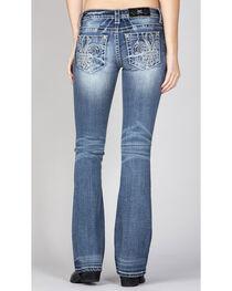 Miss Me Women's Simple Fleur De Lis Jeans - Boot Cut , , hi-res