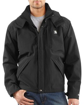 Carhartt Men's Waterproof Jacket, Black, hi-res