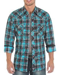 Rock 47 by Wrangler Men's Plaid Long Sleeve Western Shirt, , hi-res
