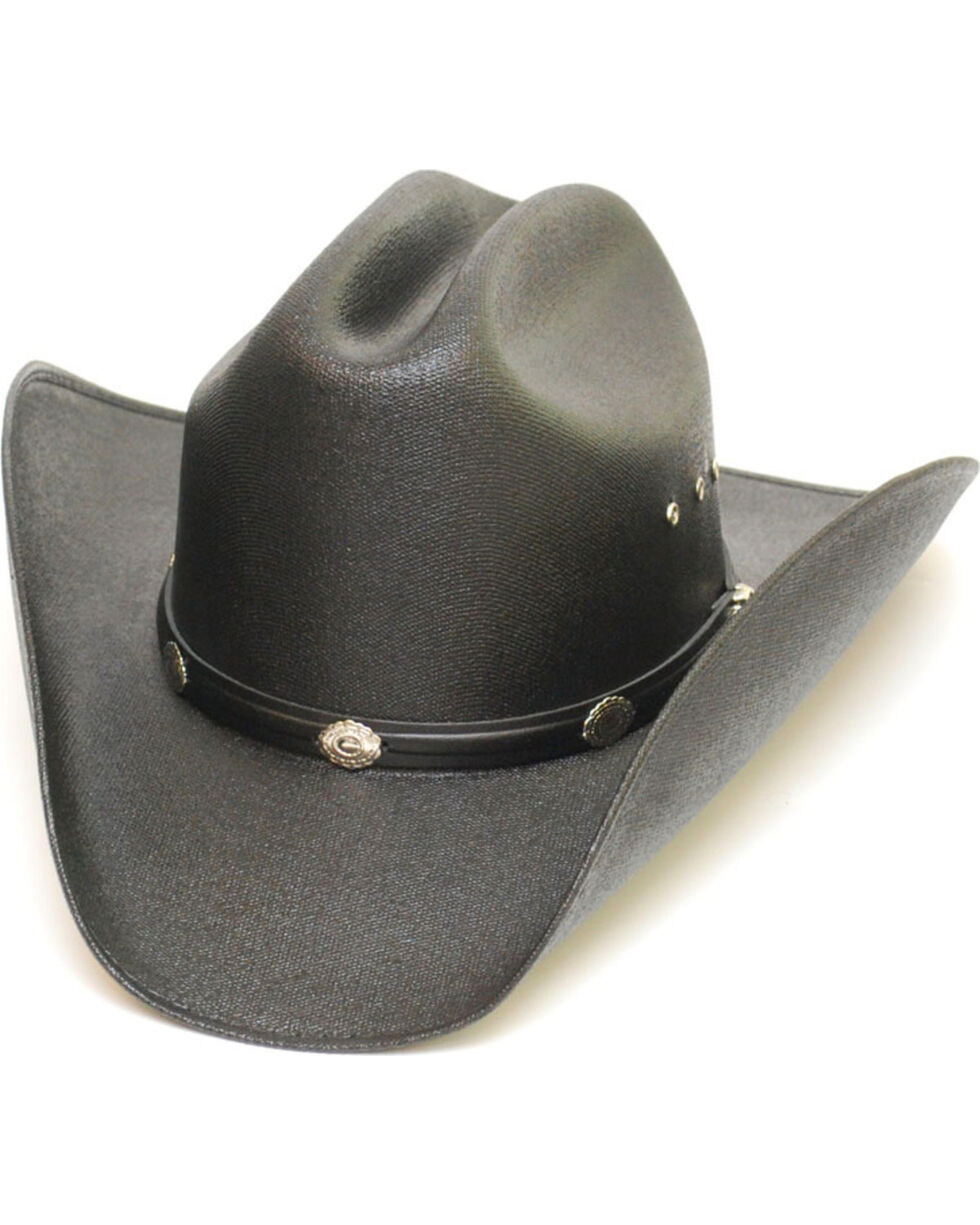 Western Express Boys' Black Cattleman Straw Hat , Black, hi-res