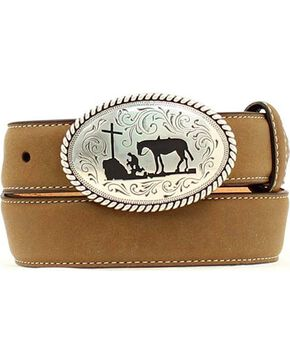 Nocona Cowboy Prayer Belt, Brown, hi-res