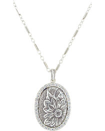 Sterling Lane Women's Wild Rose Vignette Necklace , , hi-res