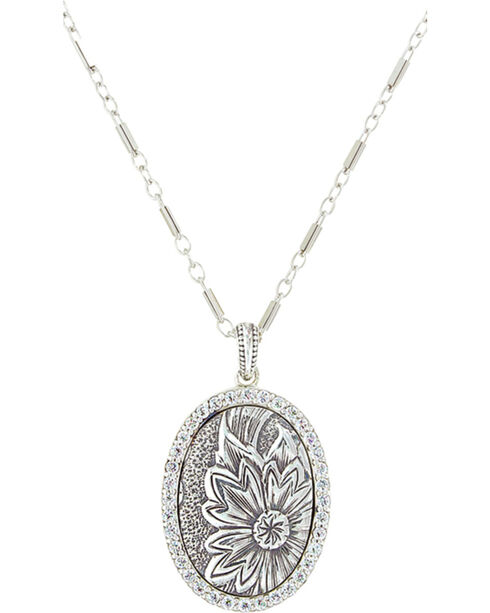 Sterling Lane Women's Wild Rose Vignette Necklace , Silver, hi-res
