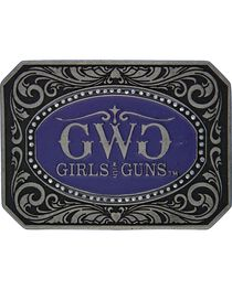 Girls With Guns Classic Cameo Attitude Belt Buckle, , hi-res