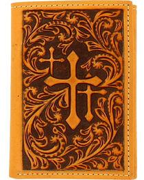 Nocona Men's Tricross Tri-Fold Wallet , , hi-res