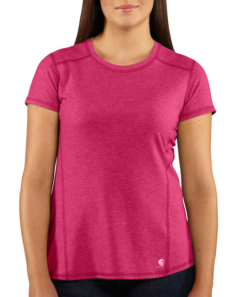 Carhartt Force Women's Performance T-Shirt, Pink, hi-res